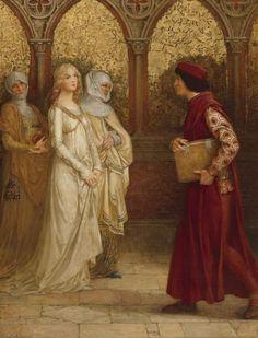 Elisabeth Sonrel: Dante and Beatrice. Dante Aleghieri's La Vita Nuova (Detail)