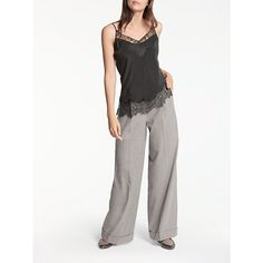 Buy Grey Modern Rarity Flannel Wide Leg Trousers from our Women's Trousers & Leggings range at John Lewis & Partners. Wide Leg Trousers, Trousers Women, Rarity, Wool Blend, Flannel, Feminine, Grey, Modern, Pants