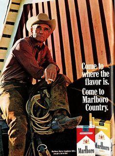 1969 Advertisement Marlboro Cigarettes Smoking Tobacciana Collecting Room American Cowboy Hat R Marlboro Cowboy, Marlboro Red, Vintage Advertisements, Vintage Ads, Vintage Posters, Retro Ads, Vintage Designs, Malboro, Vintage Cigarette Ads