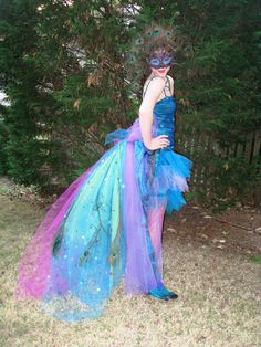 Peacock costume---- long tail in back