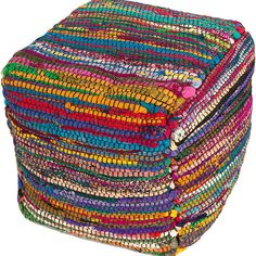 Caravan Sari Silk Rag Pouf - Shop Fabric Ottomans – Sky Iris