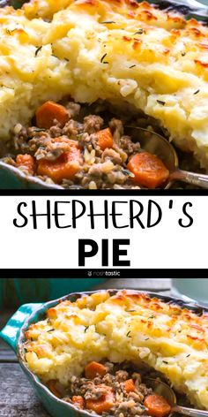 Shepherds pie recipe is comfort food that can't be beat! Made from Scra. - Gluten/Dairy-Free Cooking -Homemade Shepherds pie recipe is comfort food that can't be beat! Made from Scra. Ground Beef Recipes For Dinner, Ground Beef Recipes Easy, Recipes With Ground Lamb, Dinner With Ground Beef, Gluten Free Recipes For Dinner, Paleo Recipe With Ground Beef, Dinner Recipes, Recipes With Ground Meat, Ground Chuck Recipes Dinners