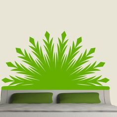 EyvalDecal Radiant Headboard Vinyl Wall Decal Size: Double, Color: Lime Green