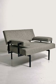 Cees Braakman U+N series armchair for Pastoe, Netherlands 1950s.