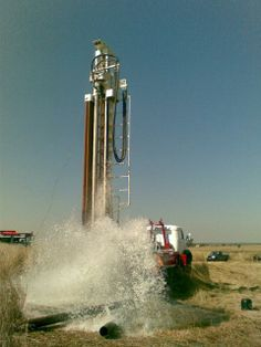 Drilling a Borehole and Receiving a lot  of water for our client