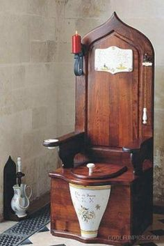Image result for dagobert wooden toilet throne