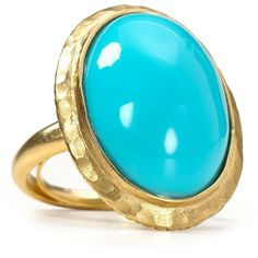 Kenneth Jay Lane Turquoise Dome Ring - Polyvore
