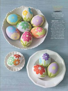 Kirigami Inspired Easter Eggs -- decorated with origami paper ... pretty!