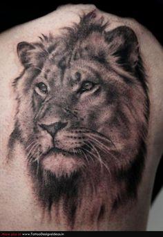 Animal Tattoos | Tatto design of Lion Tattoos animal - TattooDesignsIdeas.in