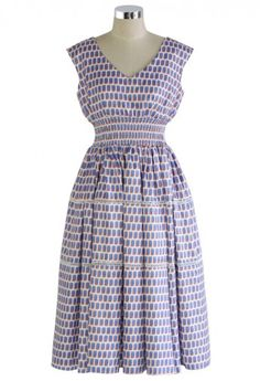 Graceful Check Print V-neck Midi Dress