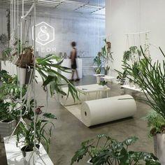 Swings serve as shelves in this Tokyo shop by Japanese designer Hiroaki Matsuyama of Minorpoet.