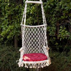 This beautiful and elegant Eco-friendly hand made hammock chair/swing is great for outdoors and indoors. Individually hand woven by artisans using double weave for softness and strength. Favorite amongst girls, this chair has round base and curved bamboo wood bars for extra comfort and durability...