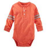 onsie. grey. orange. baby boy. children.