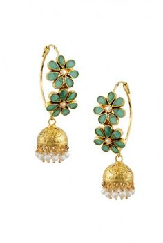 Unique pair of jhumkis