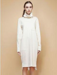 1f7e531dd364e5 Apricot Knit Asymmetric Cowl Neck Bodycon Midi Dress With Pockets Fast  Fashion