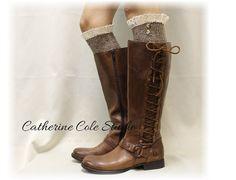 Boot socks tall boot socks leg warmers knit by CatherineColeStudio, $30.50