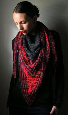 VIRAGO Shawl Knitting Pattern PDF.  via Etsy.