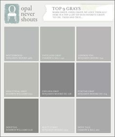 Shades Of Gray Paint looking for gray paints? here are 51 shades of great gray shades