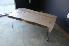 I would love to have my countertops made from reclaimed whole slab wood.    Hey, I found this really awesome Etsy listing at https://www.etsy.com/listing/112990609/live-edge-maple-coffee-table-on-hairpin