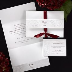 White Simplicity Wedding Invitation