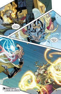 Thor Vs Odin, Loki Thor, Universe Art, Comics Universe, Marvel Dc, Marvel Comics, Thor Valkyrie, Graphic Novel Art, The Mighty Thor