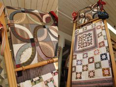 I've been admiring this wedding ring quilt, published in Quiltmania #69