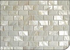 River-shell-mosaic,0.59 x 0.98 in-chips,-brick-pattern,-white-color