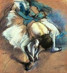 Edgar Degas Dancer Fastening her Pump painting, oil on canvas & frame; Edgar Degas Dancer Fastening her Pump is shipped worldwide, 60 days money back guarantee. Degas Ballerina, Ballerina Painting, Edgar Degas, Crayon Pastel Sec, Crayons Pastel, Ballerine Degas, Degas Dancers, History Of Hip Hop, History Articles