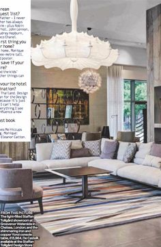 comfy sectional in earth tones.  Possibly the Chelsea Sofa by Molteni & C from Staffan Tollgard.  Living Etc Nov 2016 p. 173