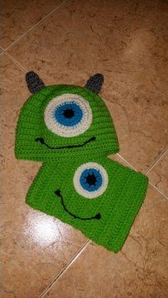 Monstro verde crochet