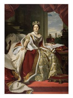Queen Victoria of England in Her Coronation Robes Giclee Print    allposters.com