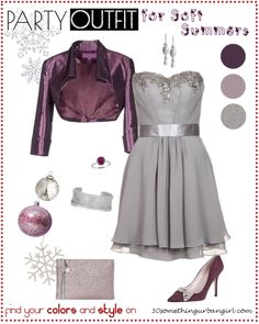Chic Holidays party outfit idea for Soft Summers | Find your best colors and style on www.30somethingurbangirl.xom