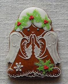andílek Christmas Goodies, Christmas Angels, Christmas Fun, Galletas Cookies, Cupcake Cookies, Cupcakes, Christmas Gingerbread, Gingerbread Cookies, Gingerbread Houses