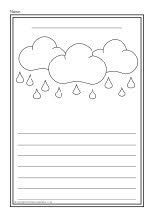 Weather colour and write worksheets (SB8742) - SparkleBox