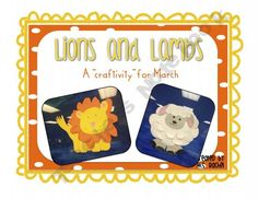 Lion and Lambs - a craft activity for March
