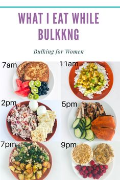 What a day of eating on a bulk looks like. food Here is an example of my bulking meal plan. Healthy Meal Prep, Healthy Snacks, Healthy Eating, Healthy Recipes, Healthy High Calorie Foods, Healthy Protein, Clean Recipes, High Calorie Meal Plan, Foods High In Protein