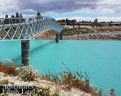 Lake Tekapo footbridge, Tekapo, New Zealand.