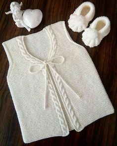 These 41 Baby Knitting Models Take Many Orders! - 41 Times You Will Call Maşallah 41 Baby Vest Cardigan Dress Knitting Model - Baby Knitting Patterns, Free Knitting, Knit Baby Sweaters, Knitted Baby Clothes, Dress With Cardigan, Baby Cardigan, Crochet For Kids, Baby Dress, Kids Outfits