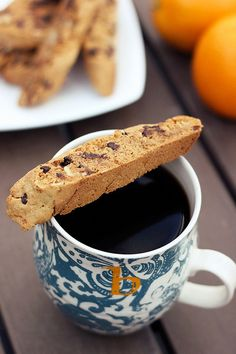 Grain-Free Orange, Almond & Dark Chocolate Biscotti - Gluten-free + Vegan