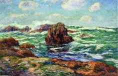 Pern, Ile d Ouessant, huile sur toile de Henri Moret (1856-1913, France)