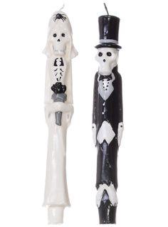 Til Death Skeleton Taper Candle Set | PLASTICLAND