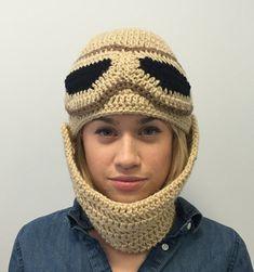 Rey Hat, Star Wars Crochet Beanie With Detachable, Adjustable Scarf, Rey Costume, Halloween Costume