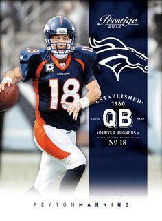 Denver Bronco Peyton Manning's card