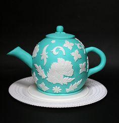 Teapot cake - birthday theme party.