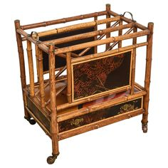 Rare 19th Century English Bamboo Canterbury   See more antique and modern Magazine Racks and Stands at https://www.1stdibs.com/furniture/more-furniture-collectibles/magazine-racks-stands