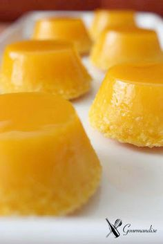 Mini quindim  Read more at http://desserteater.com/quindim-brazilian-coconut-custard-cake/263/#
