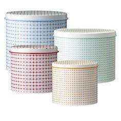 Bloomingville Carla Set Of 4 Assorted Storage Tins | ACHICA