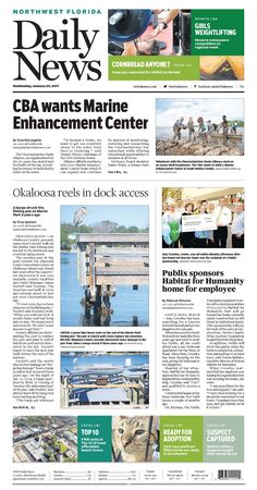 The Jan. 25, 2017, front page of the Northwest Florida Daily News: A barge struck the fishing pier at Marler Park 3 years ago