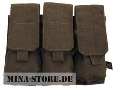 "mina-store.de - Magazintasche dreifach ""MOLLE"" Modular System oliv"