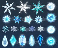 Winter gems and snowflakes (downloadable stock) by Rittik-Designs on DeviantArt
